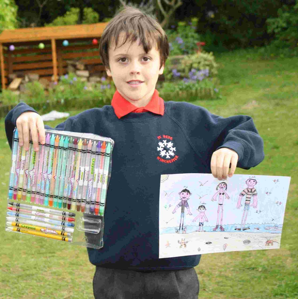 Seven-year-old Liam Skeat of Weeke, a Year 2 St Bede C of E Primary School student, won the Thompson drawing competition.