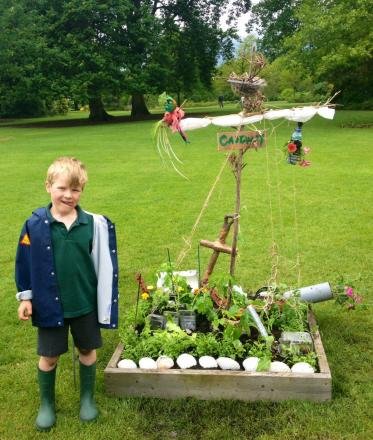 Pilgrims' Pre-Prep pupil Hugo Short with their competition entry