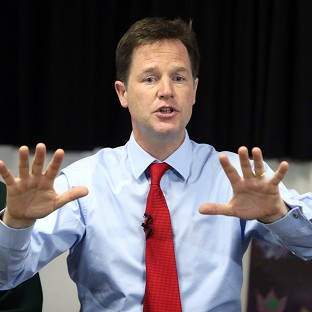 Nick Clegg says the national debt must be cut in a fair way