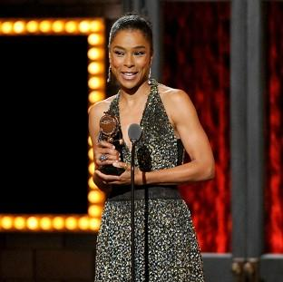 Sophie Okonedo accepts her award for best performance by an actress in a featured role (Invision/AP)