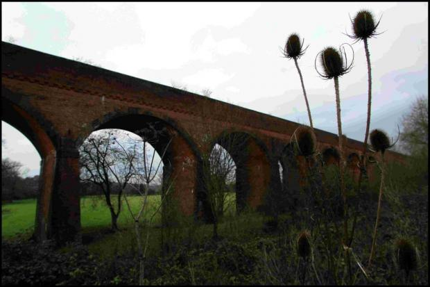Hampshire Chronicle: The Hockley Viaduct that carried the Didcot, Newbury and Southampton Railway