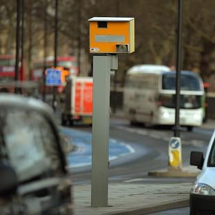 Hampshire Chronicle: A fixed speed camera in London as the Government announced motorway speeders could be forced to pay up to £10,000 in fines.