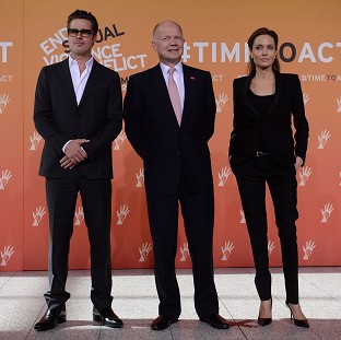 Brad Pitt and Angelina Jolie joined William Hague at a London summit