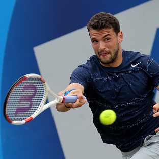 Grigor Dimitrov, pictured, saw off Stan Wawrinka to book his place in the Queen's Club Aegon Championships final