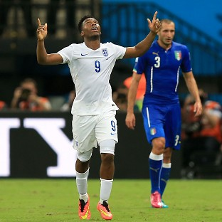 Daniel Sturridge scored England's only goal against Italy