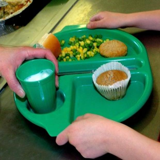 Hampshire Chronicle: A school dinner being served.