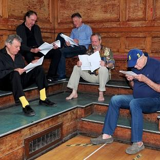 Hampshire Chronicle: Terry Jones, Eric Idle, Michael Palin, Terry Gilliam and John Cleese are hard at work rehearsing for Monty Python Live (Mostly)