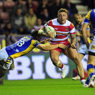 Josh Charnley grabbed five tries in his comeback match