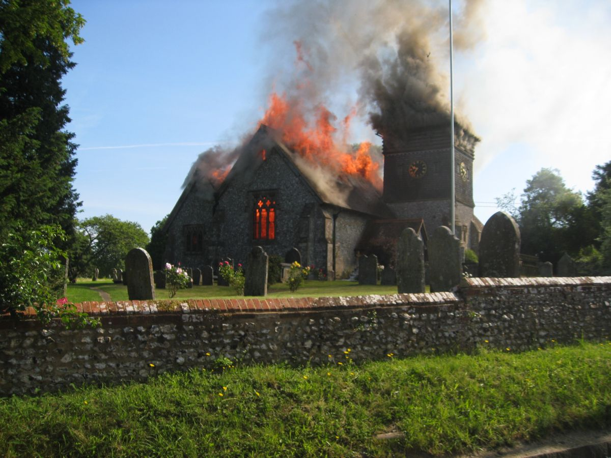 The Ropley fire: more photos