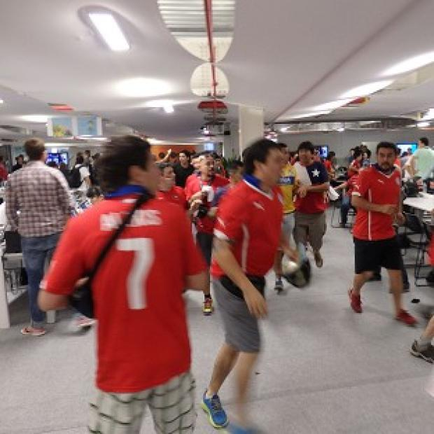 Hampshire Chronicle: Chile fans gained access to the media room at the Estadio do Maracana