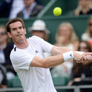Andy Murray, pictured, eased past Tommy Robredo in straight sets at the Hurlingham Club