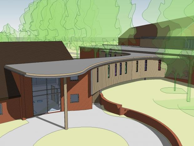 Hampshire Chronicle: An artist's impression of the new-look Naomi House