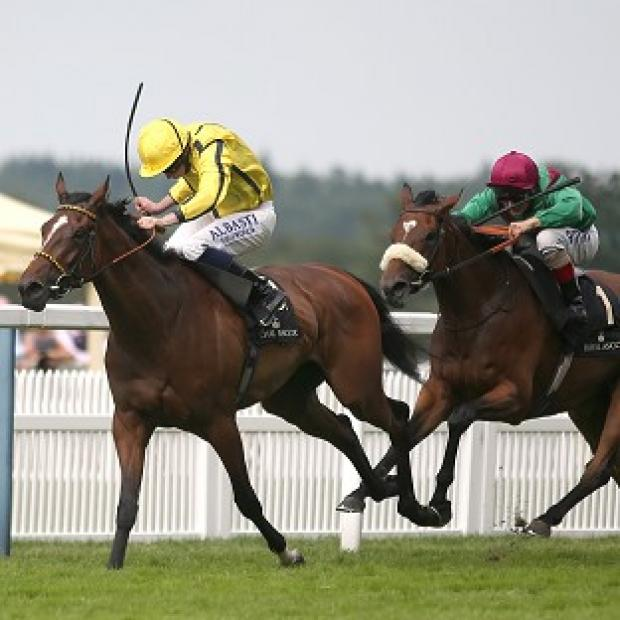 Hampshire Chronicle: Rizeena, left, held off Euro Charline and Lesstalk In Paris to claim the Coronation Stakes