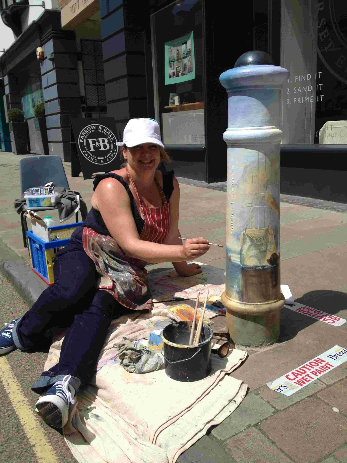 Rachael Alexander (pictured) and Jenny Muncaster have been painting the town every colour under the sun.