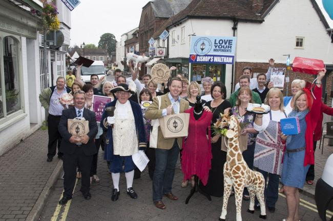 Bishop's Waltham traders and civic chiefs get ready to launch Totally Locally on July 4