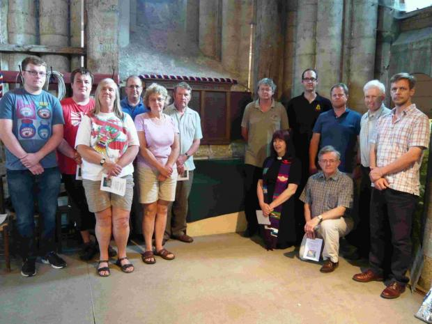 The bell ringers and Rev Susan Wallace