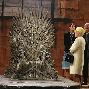 Hampshire Chronicle: The Queen during a visit to the set of Game of Thrones in Northern Ireland