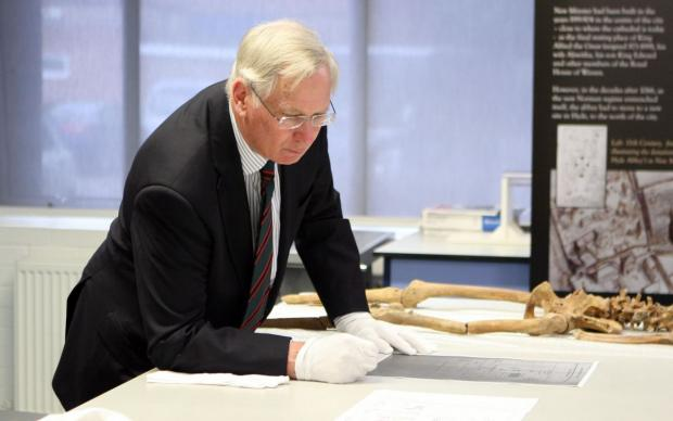 Fascinated: the Duke of Gloucester at Winchester University