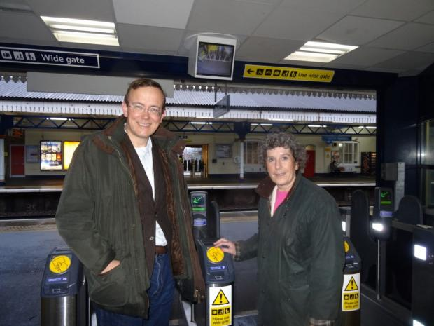 Martin Tod with Jackie Porter at Winchester Station