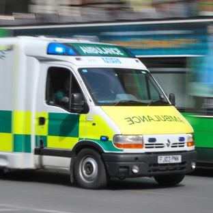 A teenager has been burned by overhead cables, the Ambulance Service said