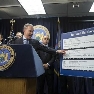 New York State Attorney General Eric Schneiderman announcing that he is suing Barclays (AP)