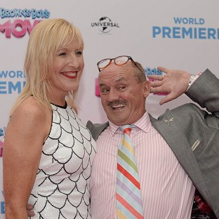 Brendan O'Carroll and Jennifer Gibney attending the world premiere of Mrs Brown's Boys D'Movie in Dublin