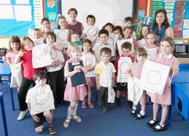 Weeke Primary School children took part in a day of creative writing helped by professional publishers