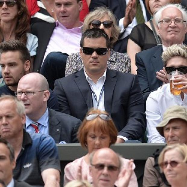 Hampshire Chronicle: Liam Payne and Niall Horan from One Direction watched the action on Centre Court at Wimbledon