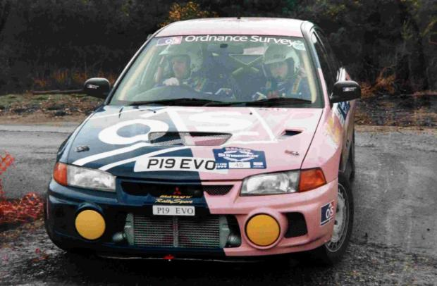 Hampshire Chronicle: The Marlows' pink and blue car