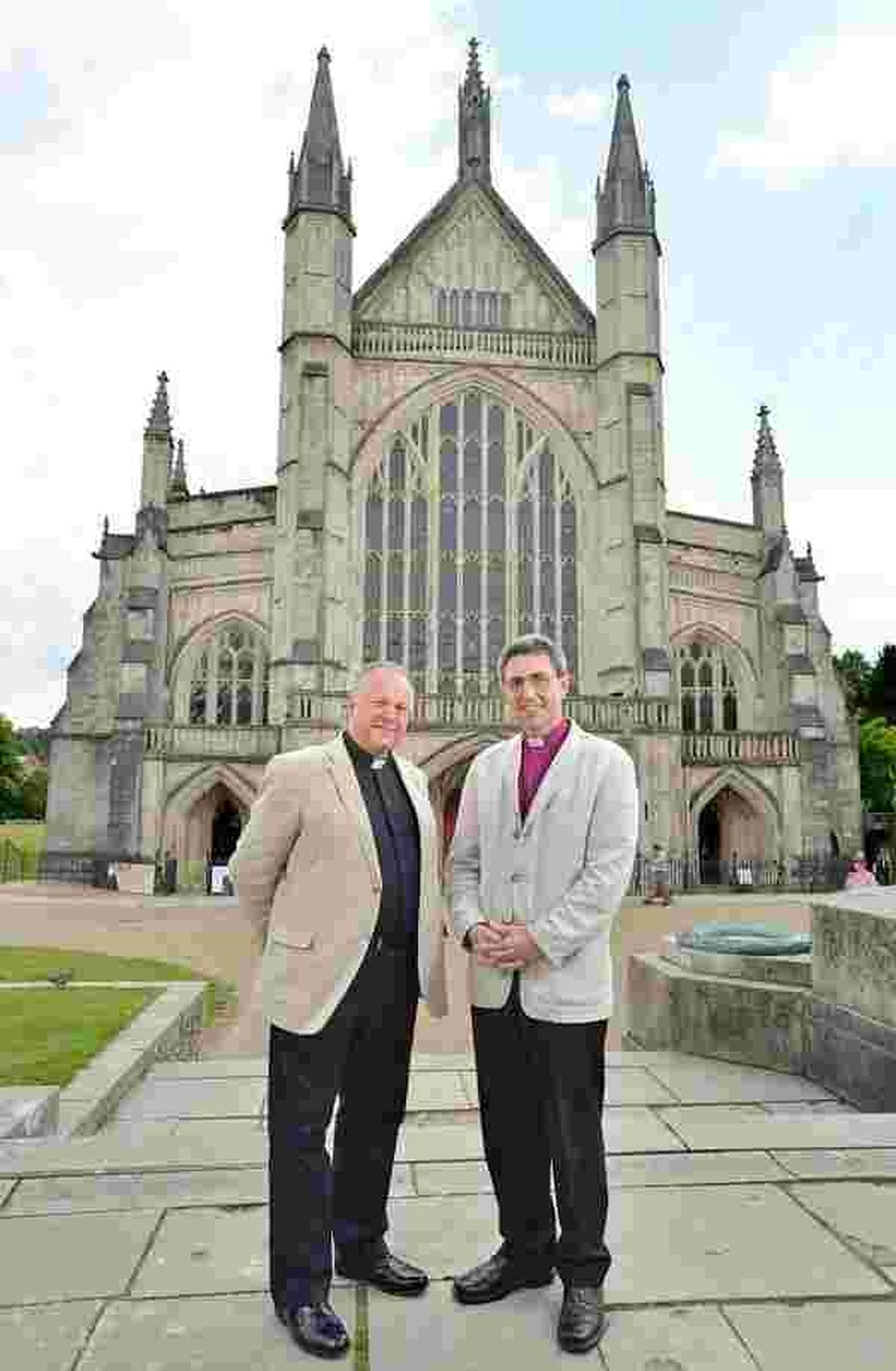 The Reverend Canon David Williams (left) pictured with The Right Reverend Tim Dakin. Photo by: Diocese of Winchester