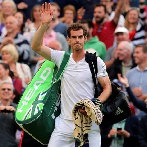 Hampshire Chronicle: Andy Murray delighted the Centre Court crowd, but his family were elsewhere