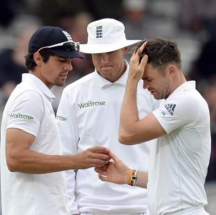 Kevin Pietersen believes Stuart Broad, centre, and James And