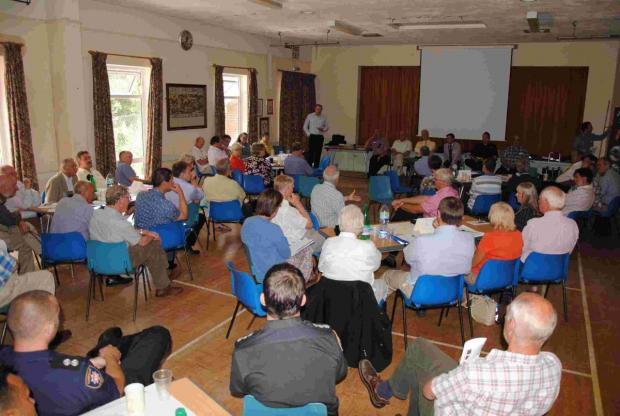 Councillors and local flood committee representatives from across Test Valley gathered to discuss preventative measures