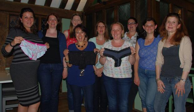 Members of Winchester & District Ladies Circle met Becky John, owner of Who Made Your Pants