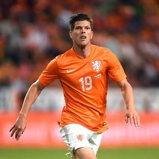 Klaas-Jan Huntelaar converted a late penalty to send Holland through