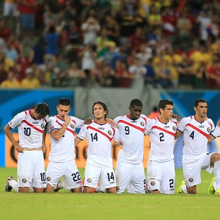 The Costa Rica team converted all of their penalties