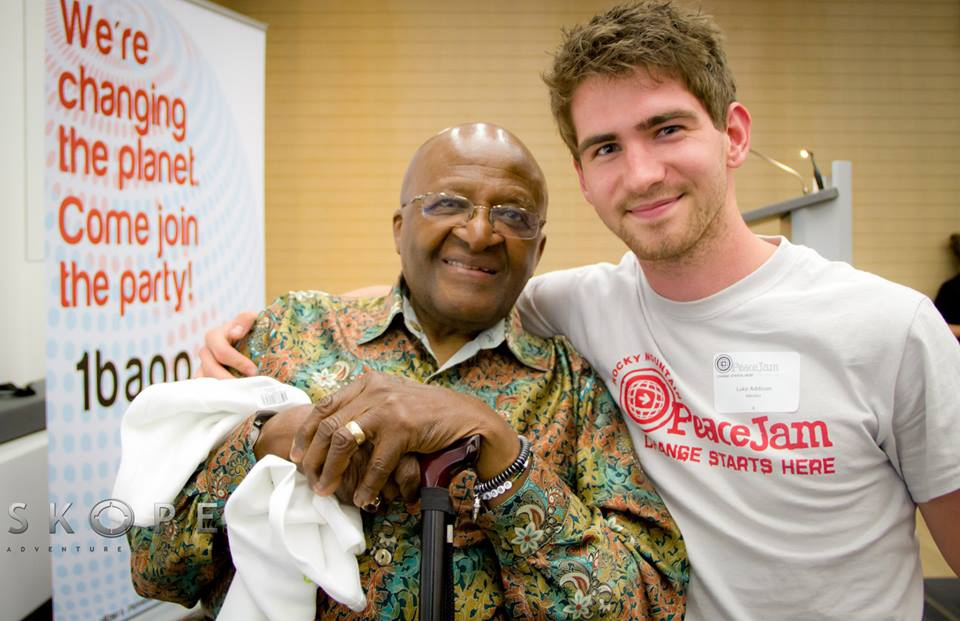 Spreading peace and meeting Desmond Tutu