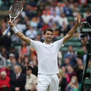 Grigor Dimitrov will appear in the Wimbledon quarter-finals for the first time