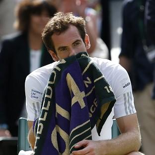 Andy Murray after losing to Bulgaria's Grigor Dimitrov during day 10 of Wimbledon