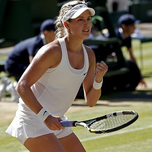 Eugenie Bouchard, pictured, will face Petra Kvitova in Saturday's final