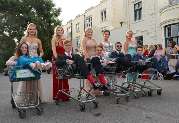 Teens turn up at prom in trolleys after their bus is involved in accident