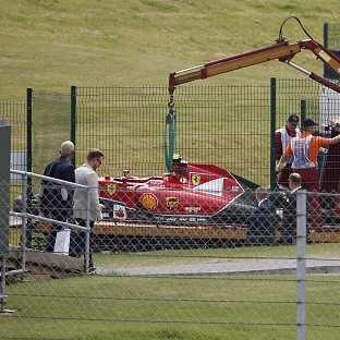 Kimi Raikkonen's crash meant the British Grand Prix was red flagged