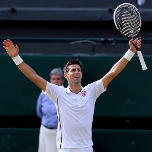 Novak Djokovic, pictured, beat Roger Federer to win his second Wimbledon title