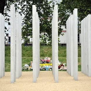 Hampshire Chronicle: Messages were daubed on the July 7 memorial in London's Hyde Park