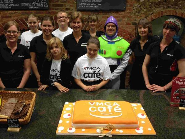 Hampshire Chronicle: A cake was baked to celebrate the café's launch