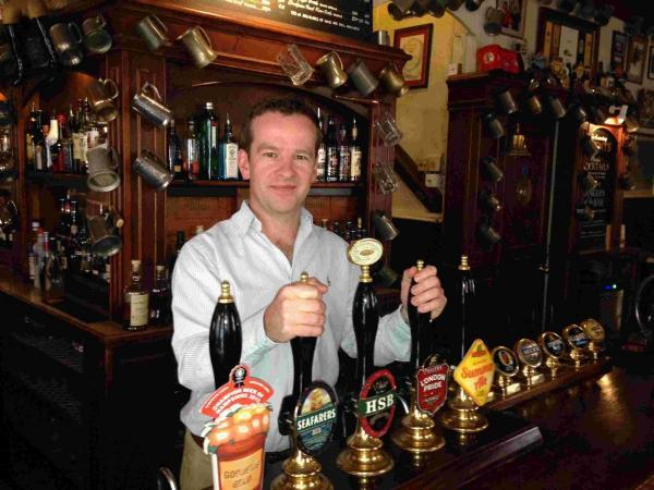 Current Wykeham Arms manager Jon Howard