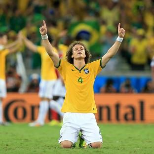 David Luiz, pictured, will captain Brazil against Germany in the absence of