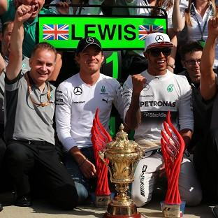 Lewis Hamilton, after winning the British GP, has poked fun at Mercedes team-mate Nico Rosberg ahead of his home race in Germany
