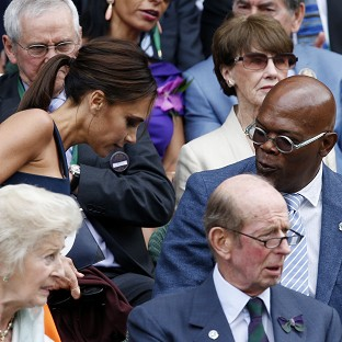Victoria Beckham sat next to Samuel L Jackson for the men's final of Wimbledon