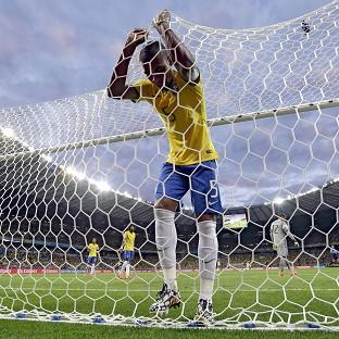 Fernandinho was in disbelief at Brazils' heavy loss (AP)